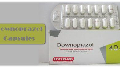 كبسولات DOWNOPRAZOL داونوبرازول لعلاج الحموضة وقرحة المعدة