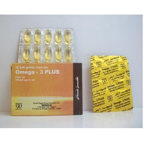 كبسولات جيلاتينية OMEGA - 3 - PLUS أوميجا 3 بلس