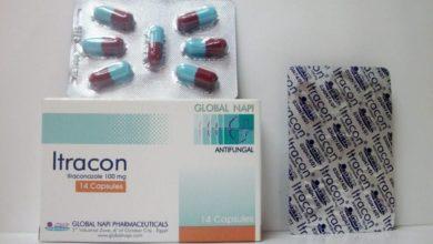 عبوة كبسولات ITRACON لعلاج الفطريات