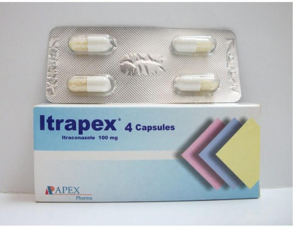 كبسولات ITRAPEX اترابيكس 4 كبسولات