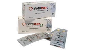 أقراص BETACOR بيتاكور لتنظيم ضربات القلب