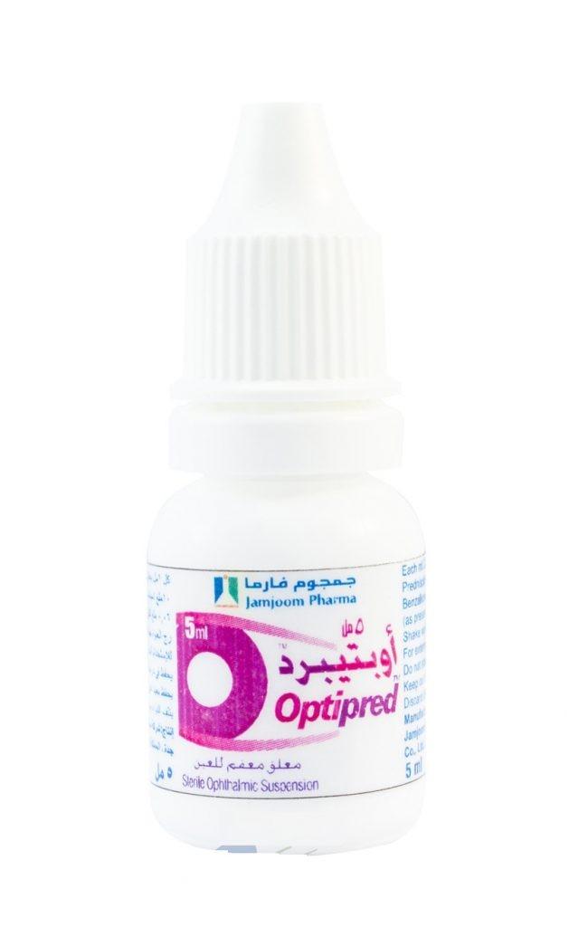 قطرة OPTIPRED أوبتيبرد لعلاج حساسية والتهابات العين