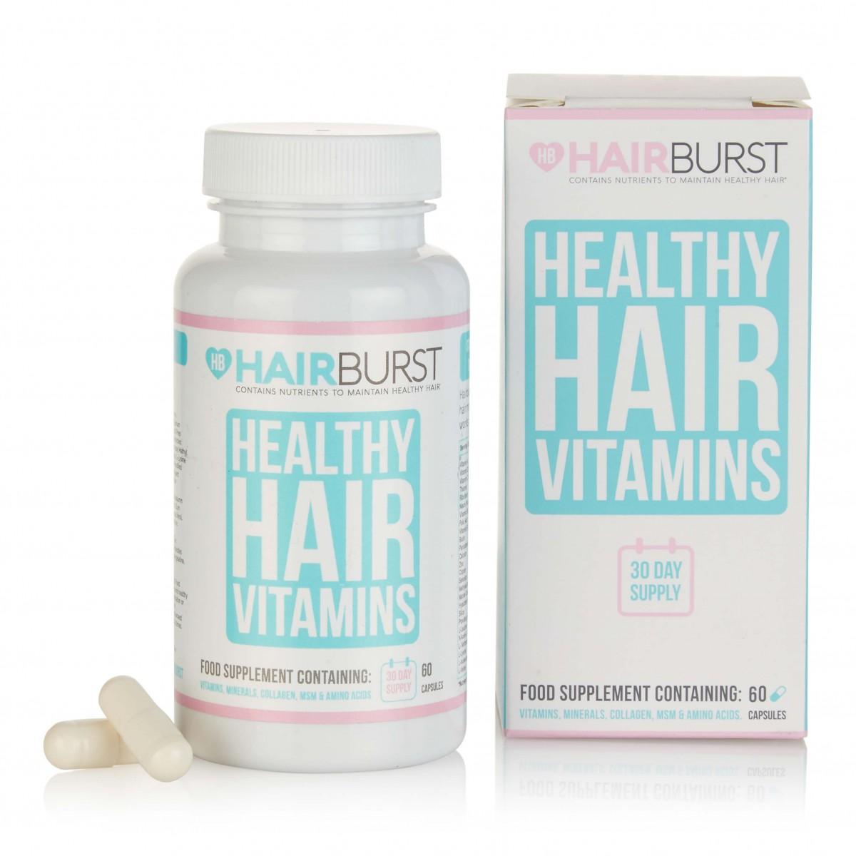 كبسولات HAIRBURST هيربرست لإطالة وتغذية الشعر