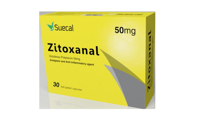 كبسولات ZITOXANAL زيتوكسانال مسكن للألم ومضاد للالتهابات