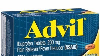 سعر ومواصفات ADVIL أدفيل أقراص وكبسولات مسكن للألم ومضاد للالتهابات وخافض للحرارة