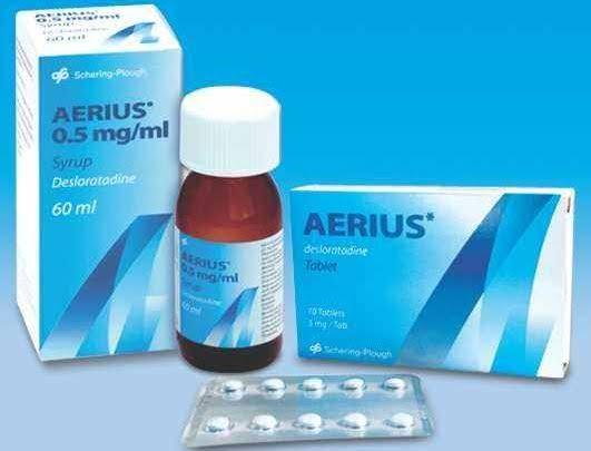 دواء aerius مضاد للهيستامين لعلاج الحساسية