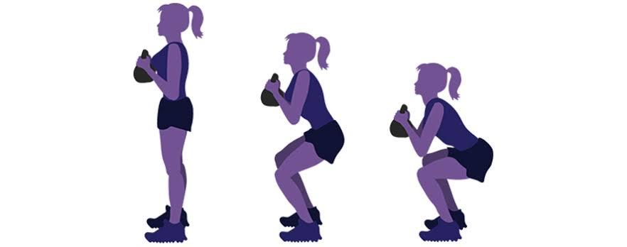 أداء تمارين القرفصاء للحامل