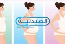 بطن الحامل في الشهر الرابع