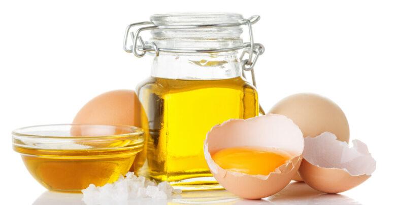 فائدة زيت البيض لـ الشعر