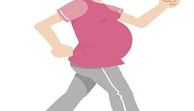 أهمية المشي لـ السيدة الحامل
