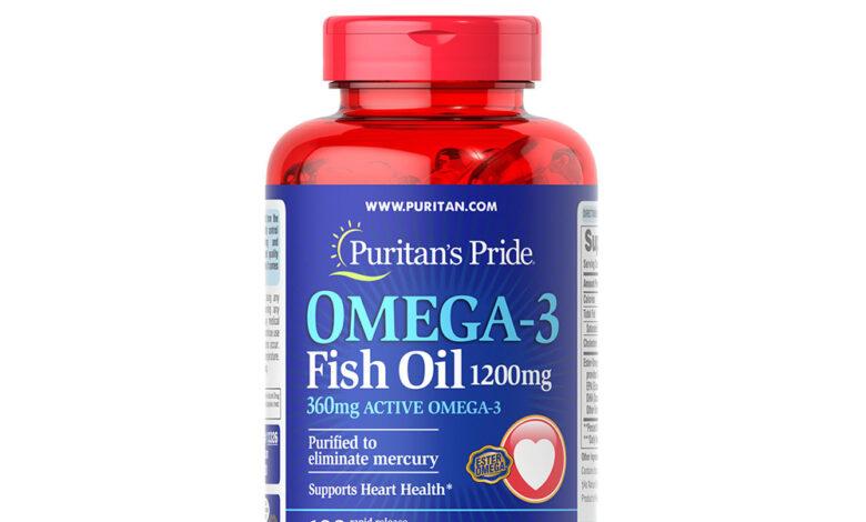 المكمل الغذائي OMEGA 3 - FISH OIL + D3 60 SOFTGEL CAP
