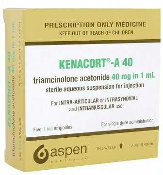 KENACORT - A - 40 MG / 1 ML 1 VIAL (XX) مضاد لـ الروماتيزم